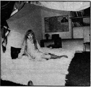 Marianne in her flat in Lennox Gardens